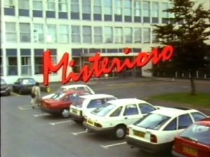 Title card from the TV drama Misterioso