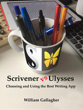 Front cover of the book Scrivener vs Ulysses - Choosing and Using the Best Writing App