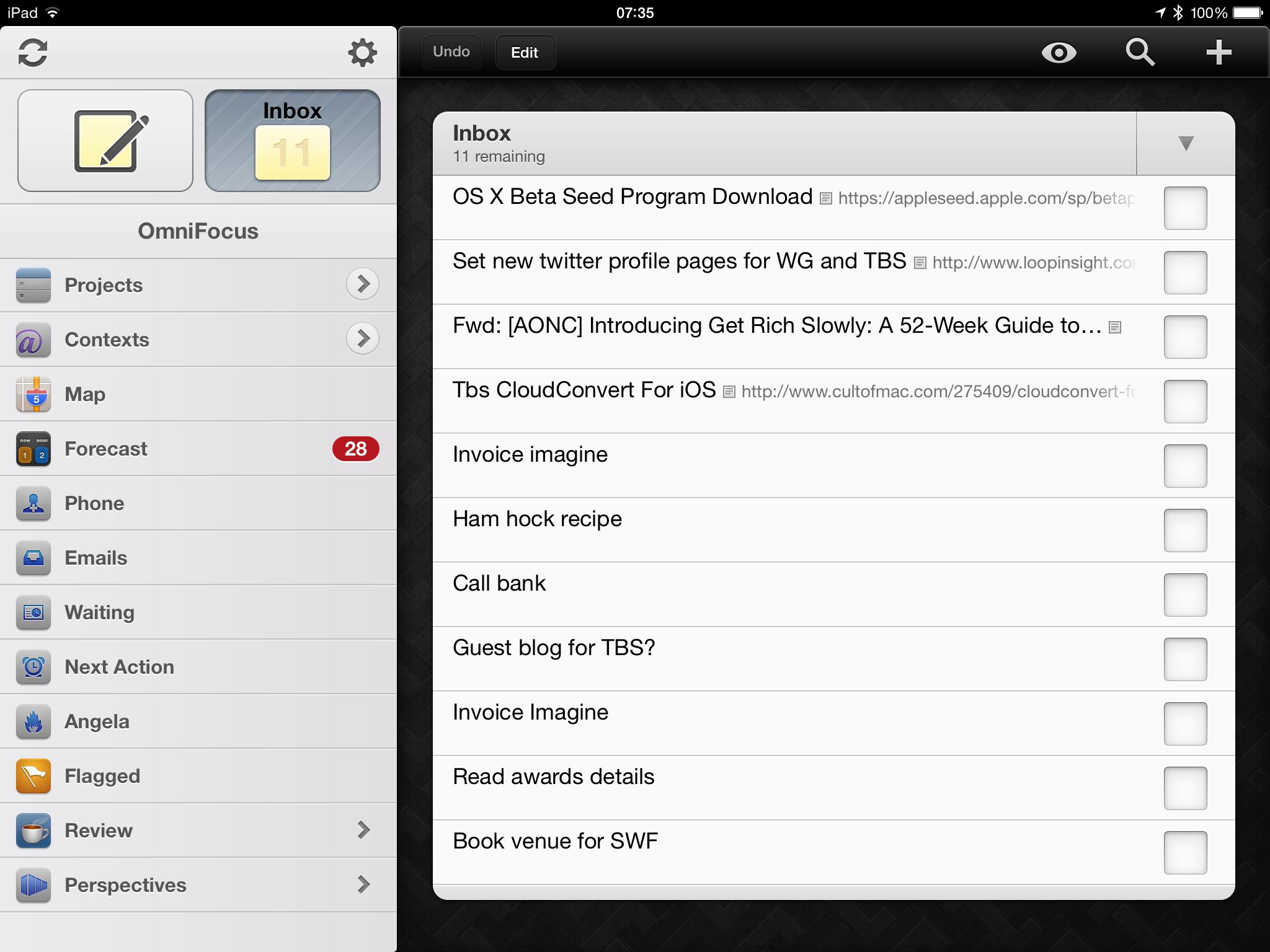 OmniFocus iPad shot