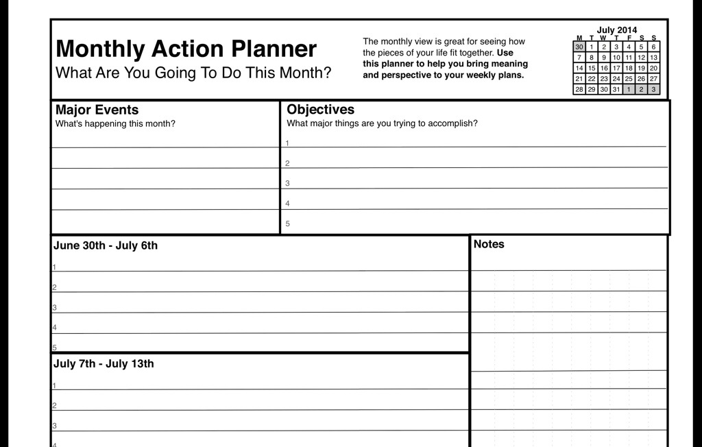 free and paid week planners for creative people william